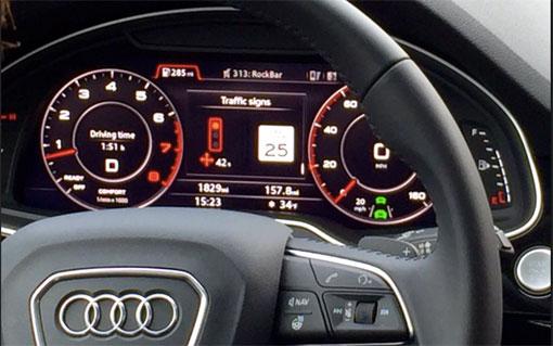Audi traffic light sensor