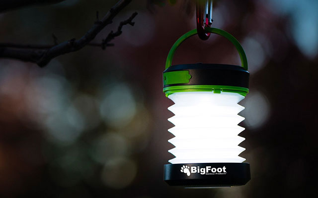 Bigfoot Compact Solar Camping Lantern