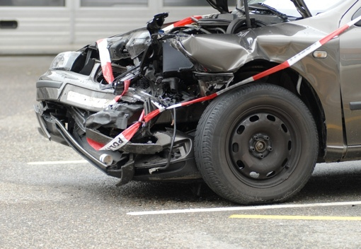 Car in front-end collision