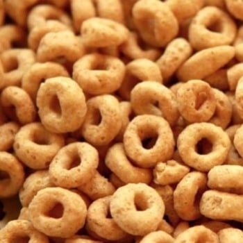 Cheerios cereal closeup