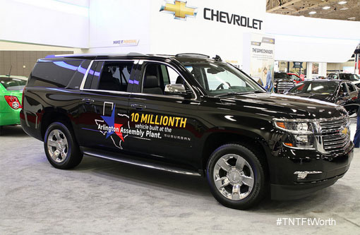 10 millionth vehicle off of the Arlington, TX line, the 2015 Chevrolet Suburban