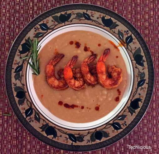 Chickpea Soup with Shrimp