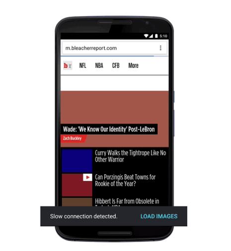 Data Saver mode for mobile Chrome app