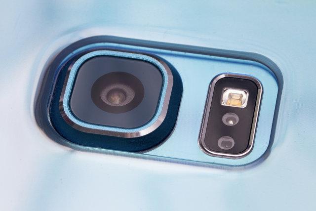 Closeup of mobile camera