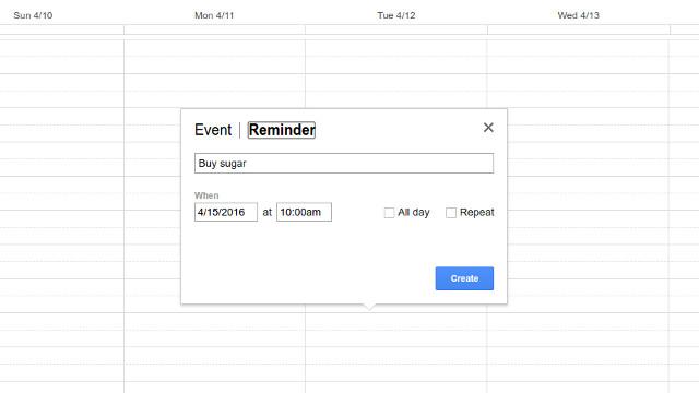 Create reminders