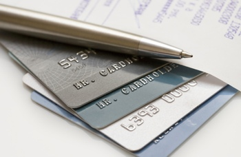 Stock photo of credit cards