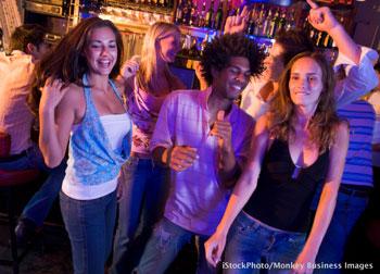 dancing in bar