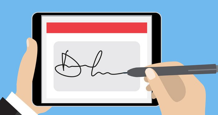 how to write electronic signature in word