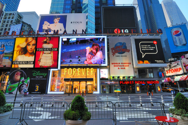 Electronic billboards on Times Square
