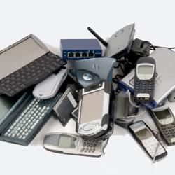 Old electronics jumble