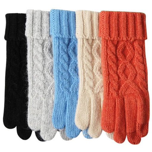 ELMA Touchscreen Women's Wool Knit Gloves