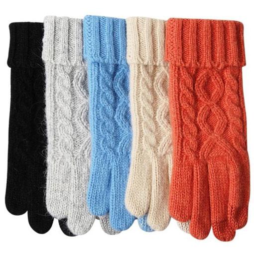 ELMA Touchscreen Women's Wool Knit Gloves