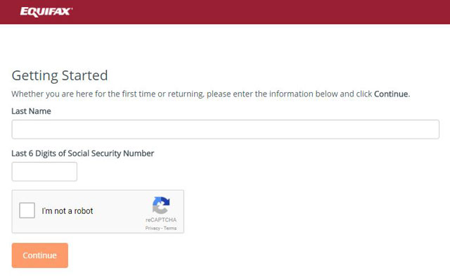 Check your SS number of Equifax