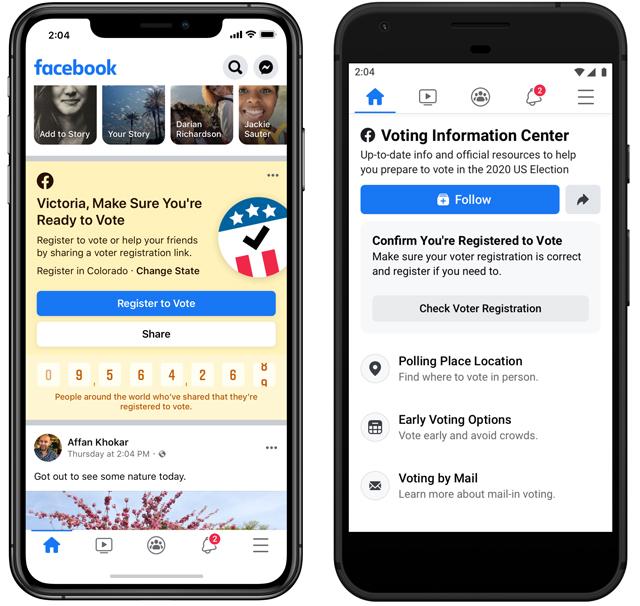 Facebook Voting Information Center