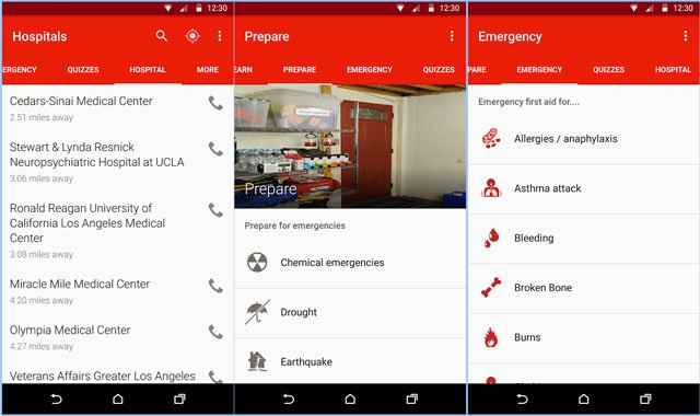 First Aid app by American Red Cross