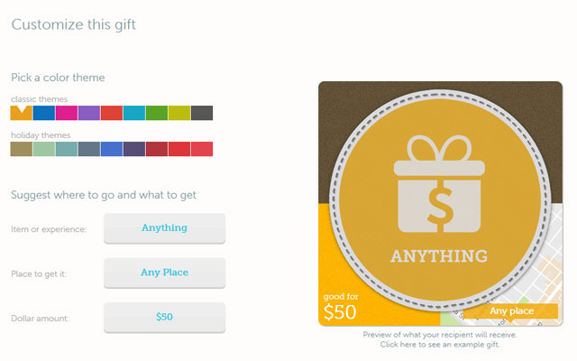 For the perfect gift: A gift card to any store