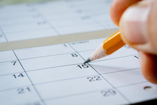 Marking down calendar