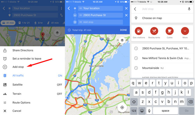 Google Maps: Add stops to your trip