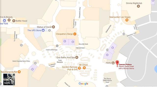 Google Maps: Navigate through buildings