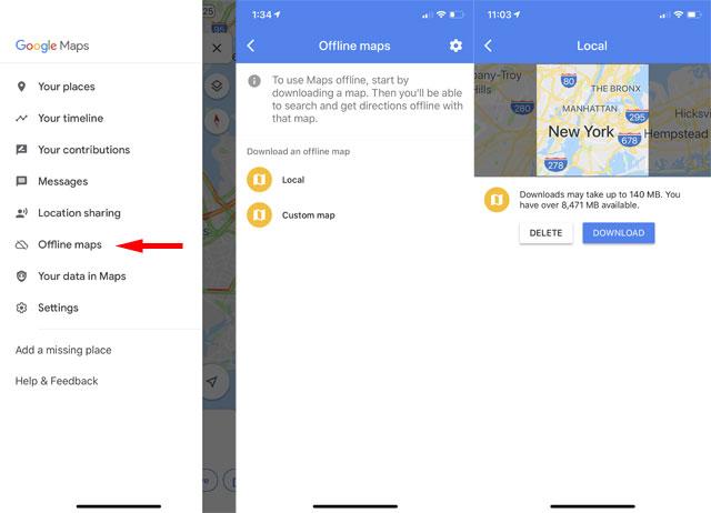 Google Maps: Offline maps