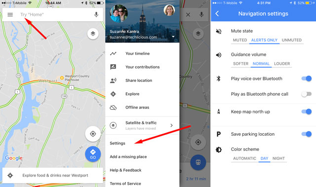how to get voice guidance on google maps