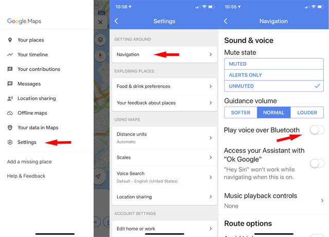 Google Maps: Hear voice navigation through your car speakers