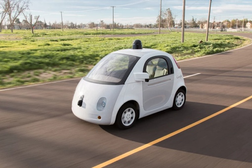 Google Self-Driving Car Prototype on the road