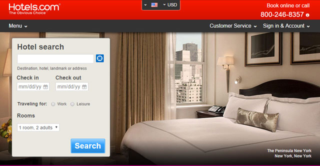 Booking your hotel separately for shorter trips - Hotels.com