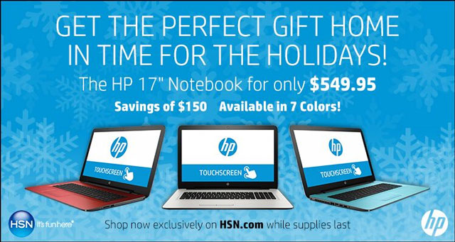 HSN HP 17 laptop promo