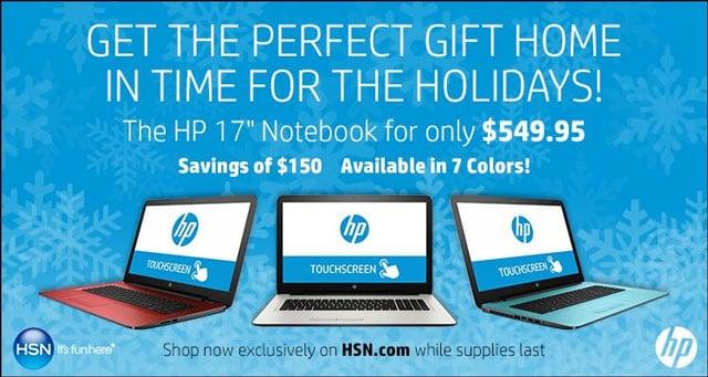 HSN HP 17 laptop promo