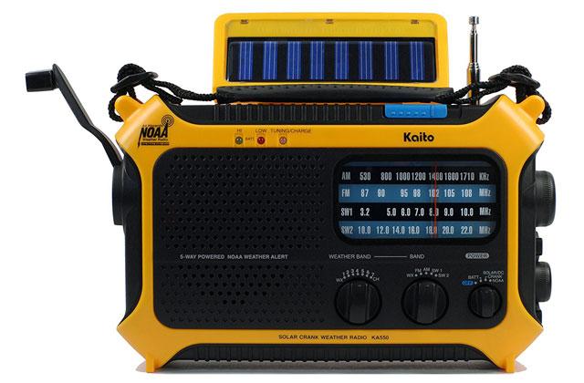 Kaito KA550 emergency radio