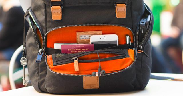 Knomo LiveFree Backpack front pocket