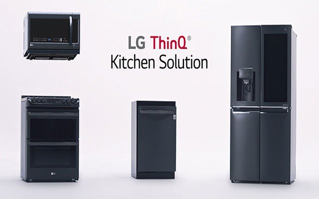 LG appliances with ThinQ Artificial Intelligence
