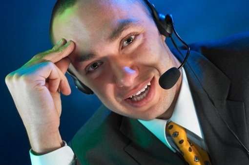 Male customer service phone agent