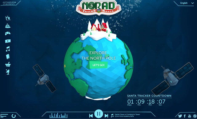 NORAD Santa Tracker website