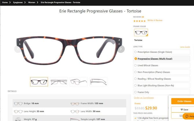 Best for budget multi-focal glasses: Payne Glasses