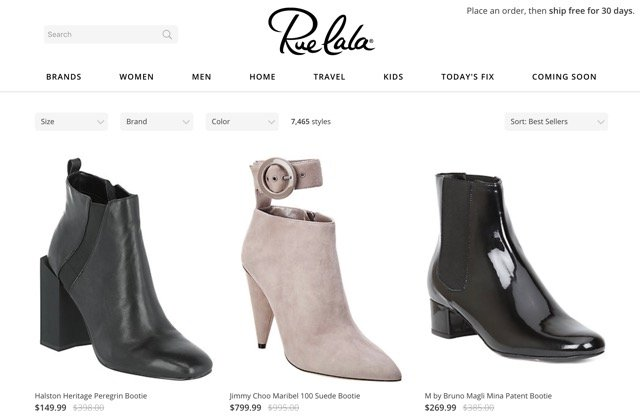 Best for boutique shopping: RueLaLa