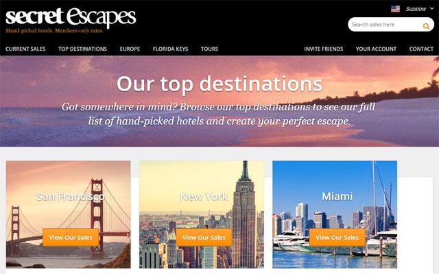Secret Escapes - a flash sale site for travel