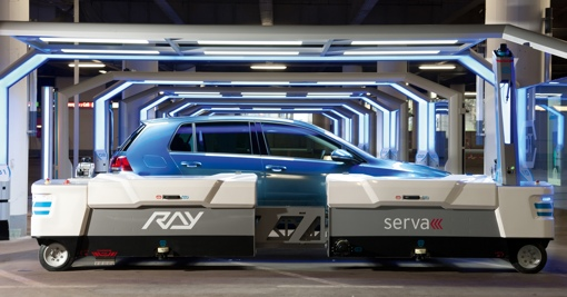 Ray robot valet parking a car