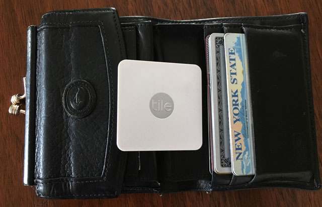 Tile Slim easily fits in your wallet