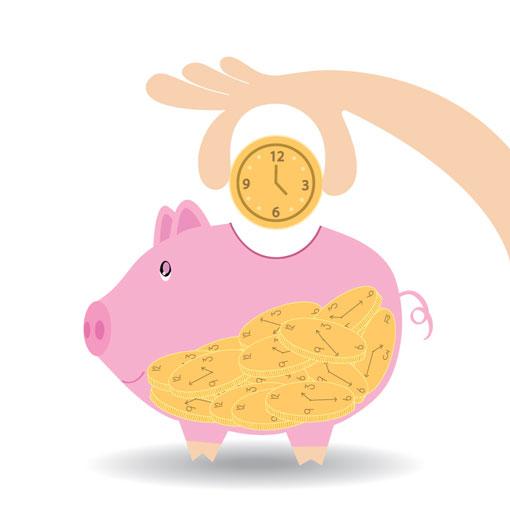 time saving concept