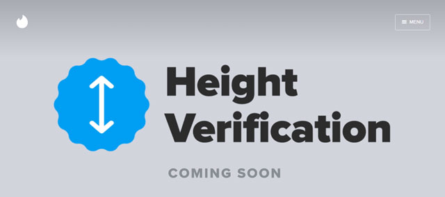 Tinder Height Verification