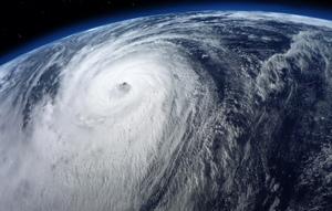 Typhoon satellite view