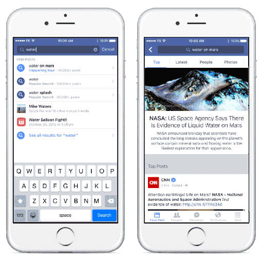 Updated Facebook Search Now Lists Results from All Public Posts