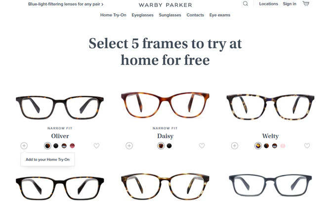 Best for try-before-you-buy: Warby Parker