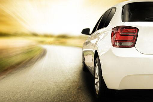 white sports car