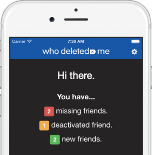 Who Deleted Me app