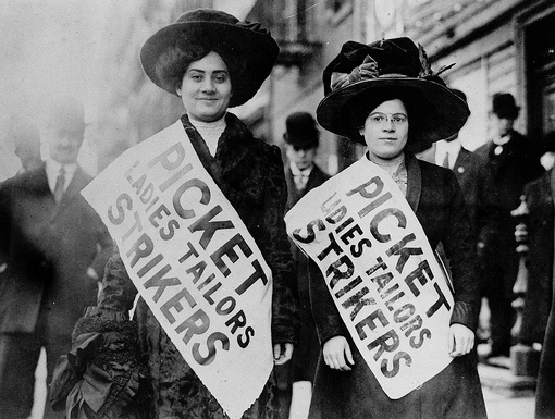 Women on Strike (1910) via NARA