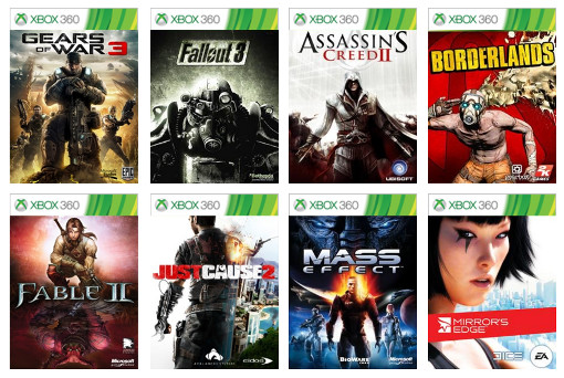 Backward-compatible Xbox 360 games