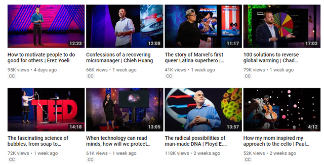 TED Talks on YouTube